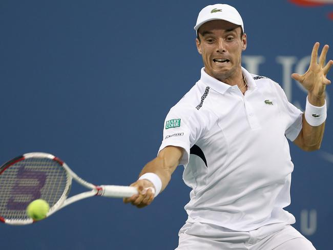 Roberto Bautista Agut was overpowered by Roger Federer.