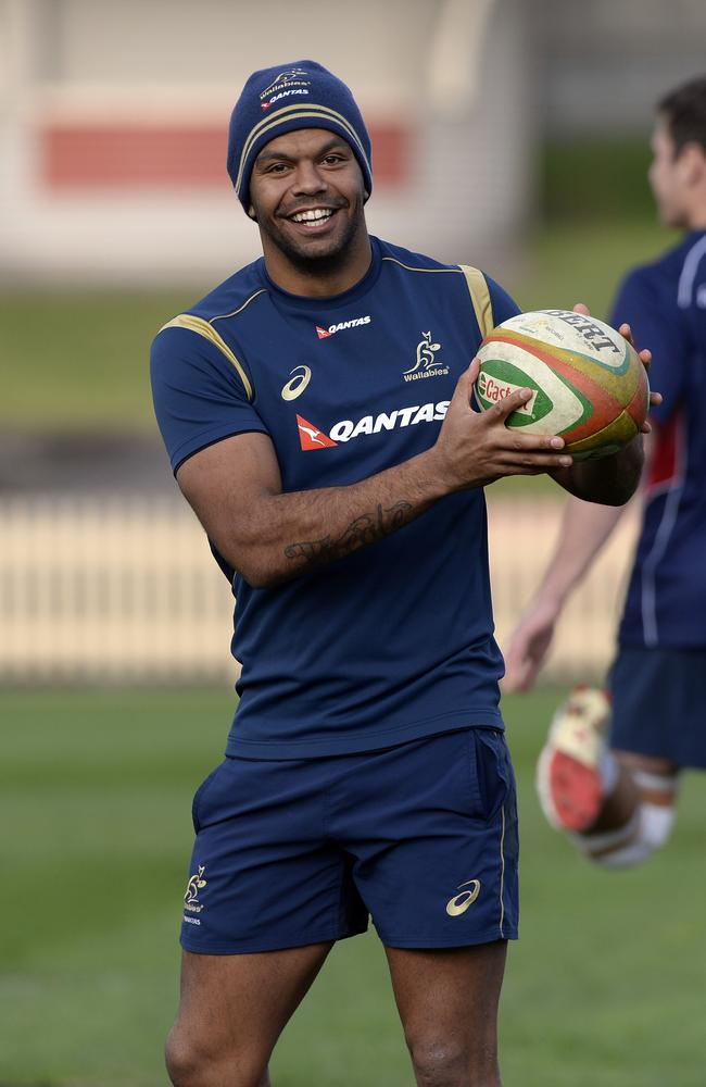Kurtley Beale has played a lot at first receiver for the Waratahs this season.