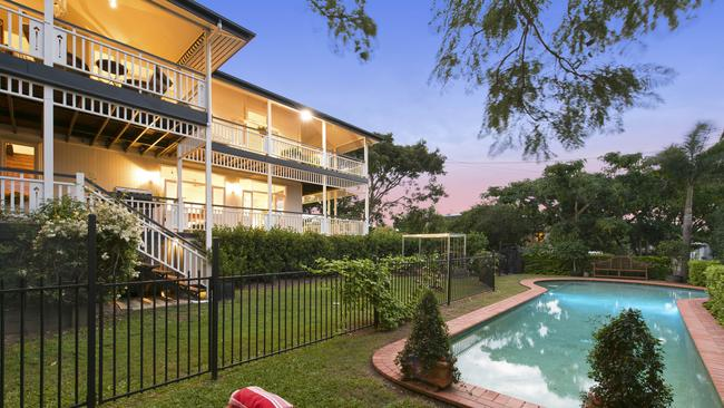 The pool and backyard at 37 Carramar St, Morningside. Picture supplied.