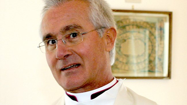 Charged... Monsignor Nunzio Scarano's Vatican bank accounts had been used to transfer millions of euros in fictitious donations from offshore companies, police said.