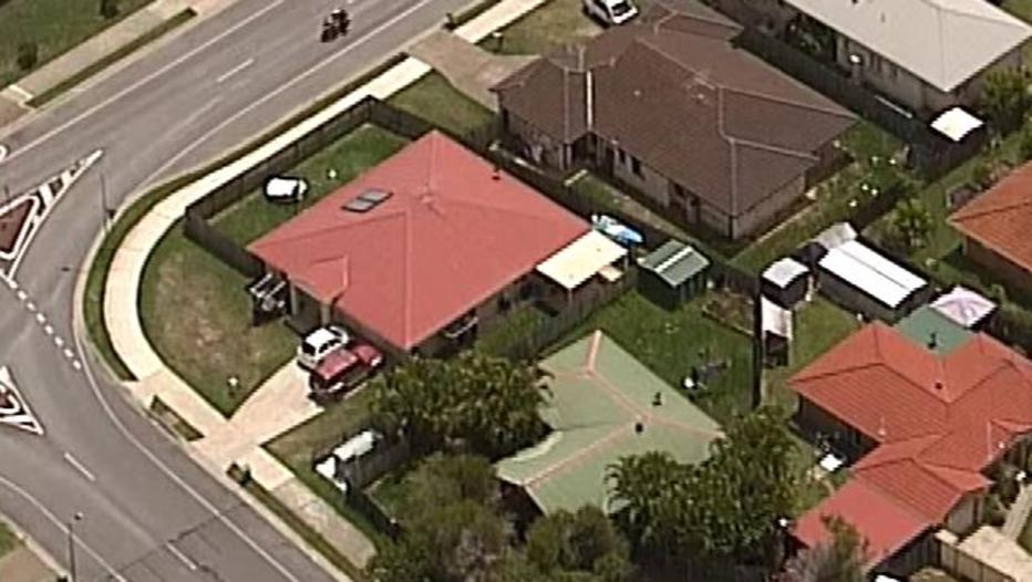 The child was swimming in an inflatable pool in a Morayfield backyard. Pic: 7 News Queensland/Twitter