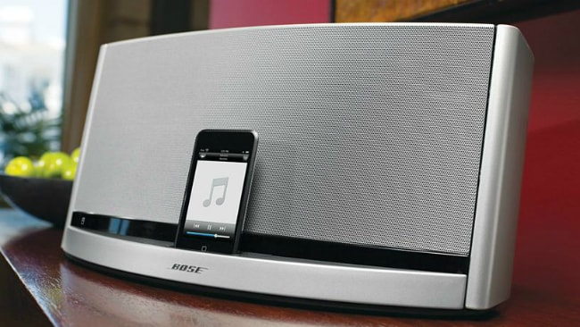 Expensive sound docks like this model from Bose were purpose-built to use with an iPhone. Picture: Bose