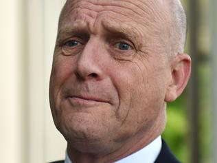 Liberal Democratic Party Senator David Leyonhjelm speaks to the media after arriving at Parliament House in Canberra, Wednesday, Nov. 30, 2016. (AAP Image/Mick Tsikas) NO ARCHIVING