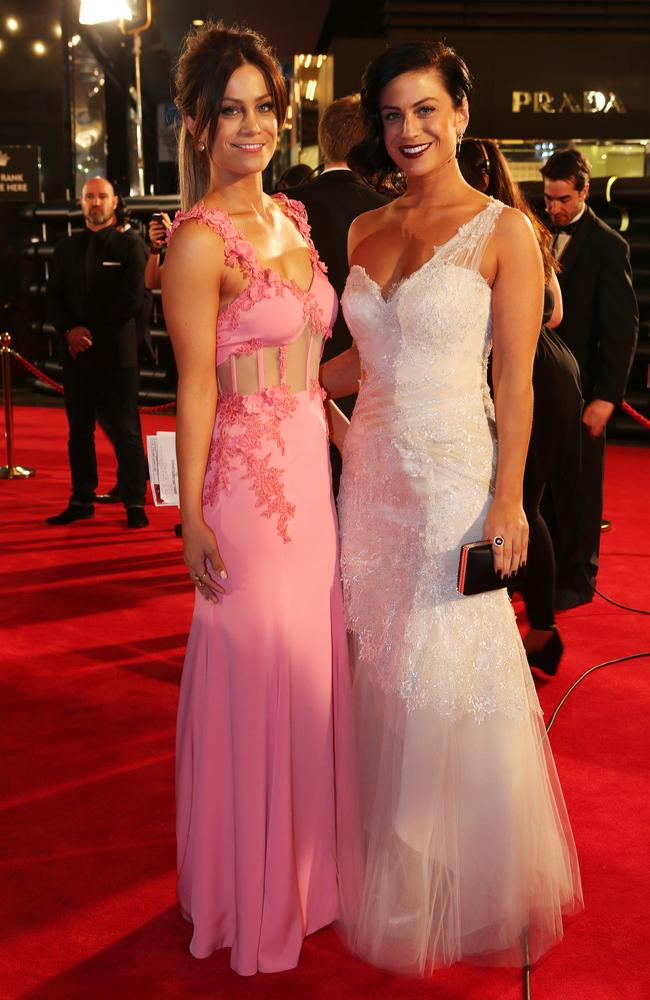 The Block twins Lysandra and Alisa at this year's Logies.