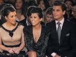 Kim Kardashian, Kourtney Kardashian and Scott Disick attend the Jill Stuart Spring 2011 fashion show during Mercedes-Benz Fashion Week on September 11, 2010 in New York City. Picture: Getty
