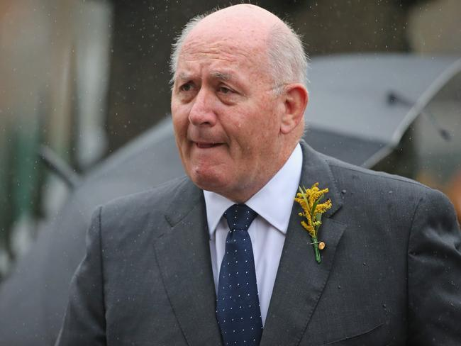 Australian Governor-General Sir Peter Cosgrove arrives at the memorial. Photo: Scott Barbour/Getty Images