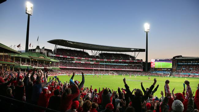 The SCG will again be packed when Sydney hosts Essendon. Picture: Phil Hillyard