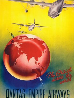 An old Qantas poster. Picture: Qantas