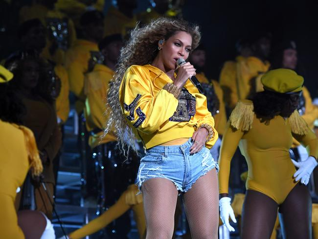 She even wore the Coachella 'uniform' of denim shorts. Picture: Getty Images