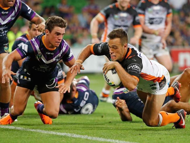A Luke Brooks try sealed the Tigers' upset win.