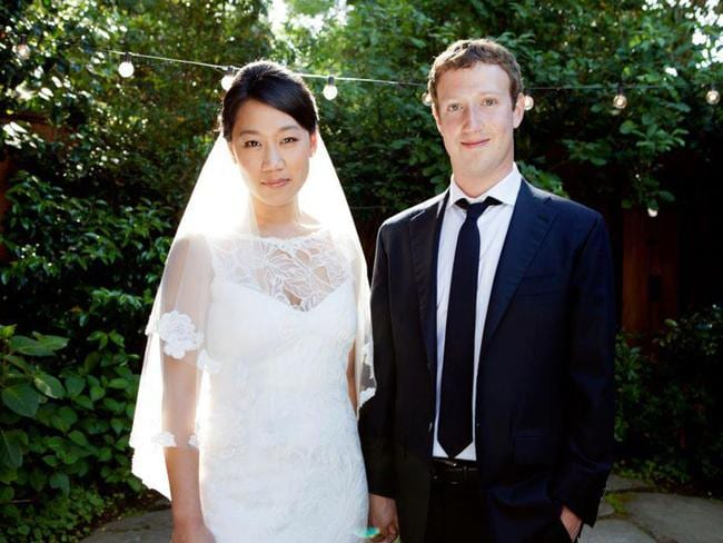 Mark Zuckerberg married Priscilla Chan in the backyard of their Palo Alto home.