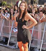 <p>Red carpet favourite ... Ricki-Lee arrives at the finals of Australian Idol 2007. Pic: Amos Aikman</p>