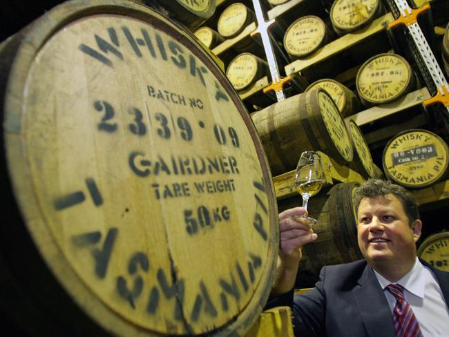 Hellyers Road Distillery's master distiller Mark Littler. Picture: Chris Kidd