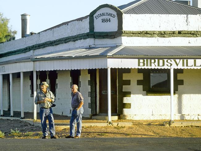 The Birdsville Hotel in far southwest Queensland where locals wear jeans and cover up to stop sunburn on scorching hot days.