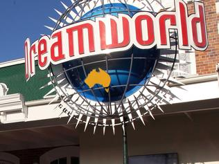 """The entrance to the Dreamworld theme park is seen on Gold Coast on October 25, 2016, after four people were killed when a park ride malfunctioned. Four people were killed at a theme park on Australia's popular Gold Coast on October 25, police said, with witnesses describing how """"everyone was screaming"""" after a raft apparently flipped on a malfunctioning water ride. / AFP PHOTO / Tertius Pickard"""