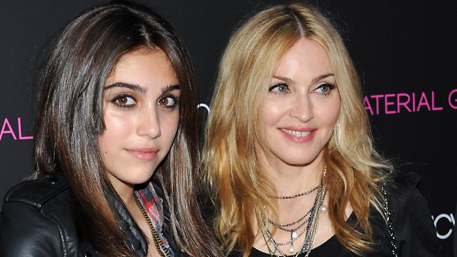 Pop singer Madonna, right, and her daughter Lourdes Leon Ciccone.