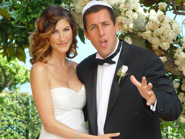 Adam Sandler with his wife Jackie Titone at their wedding in 2003.