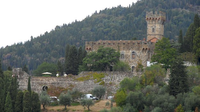 McFadden and Williams married at the 1000-year old Castello di Vincigliata, which costs more than $5000 per day to hire: Picture: Splash