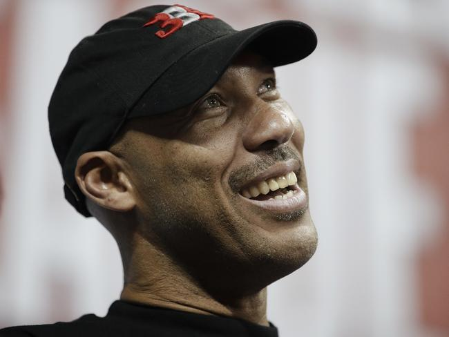 LaVar Ball, father of UCLA player LiAngelo Ball. Picture: AP/John Locher.