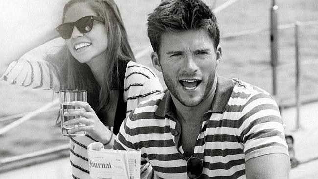 Scott Eastwood having fun on a boat.
