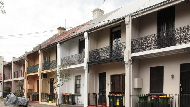 Terrace houses are a popular feature of suburbs like Erskineville and  Paddington in Sydney.Source:News Limited