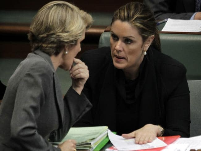 Best of enemies: Julie Bishop is reportedly clashing with Tony Abbott's Chief of Staff Peta Credlin