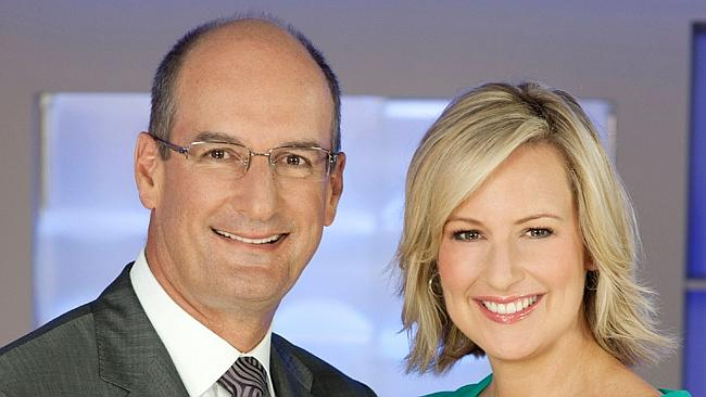 Mel and Kochie, back in the early days of  <i>Sunrise</i>.