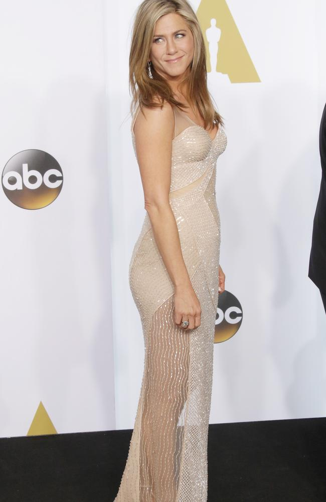 Aniston at the Academy Awards, Oscars, Press Room, in Los Angeles. Picture:  <i>Splash News.</i>
