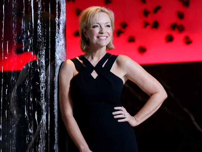 Rebecca Gibney at the Channel 7 2014 program Launch held at The Star in Pyrmont.