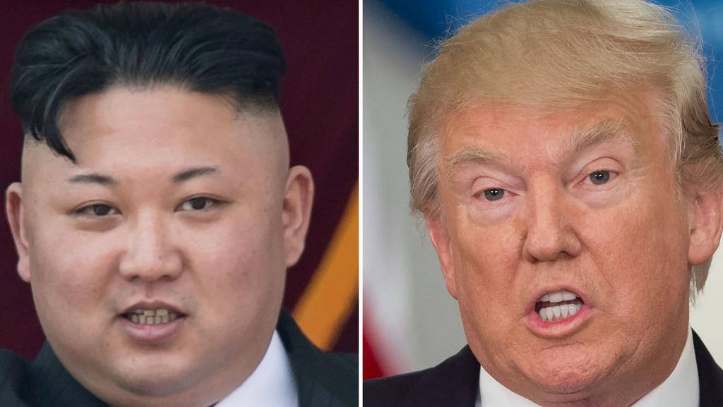 Donald Trump says maybe he wasn't strong enough in his comments about 'fire and fury' directed at North Korea and Kim Jong-un. Picture: AFP