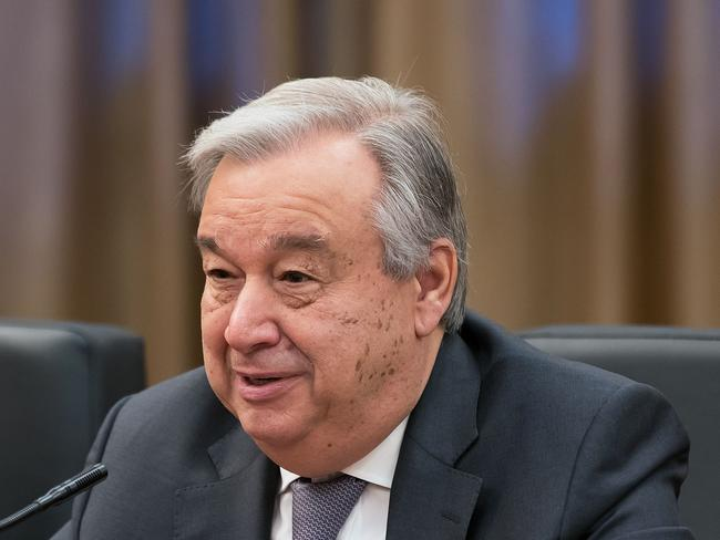 UN Secretary-general Antonio Guterres has appealed for the international community to avoid acts that may escalate the situation in Syria. Picture: AFP/Lintao Zhang