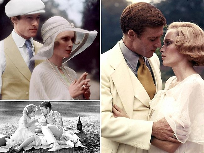 The chemistry between stars Farrow and Redford as the Gatsby and Buchanan. Pictures: Supplied