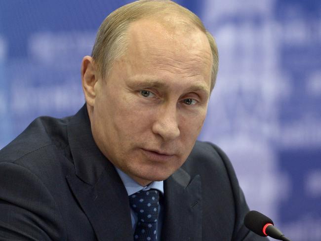 Take that, America ... Russia's President Vladimir Putin.