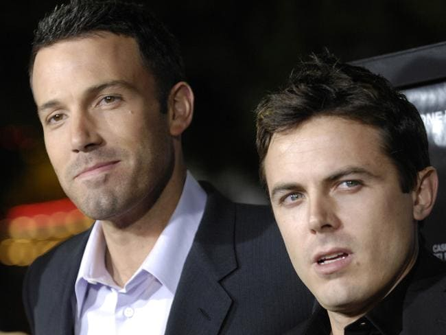 Ben Affleck, left, and his brother, Casey Affleck. Picture: AP