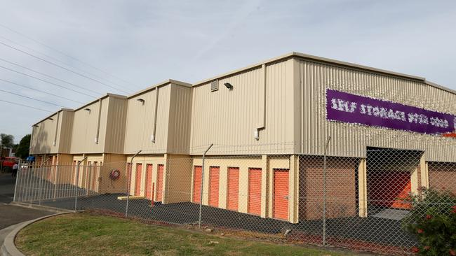 The self storage units in Padstow where police believe Jamie Gao was killed by Roger Rogerson and Glen McNamara.