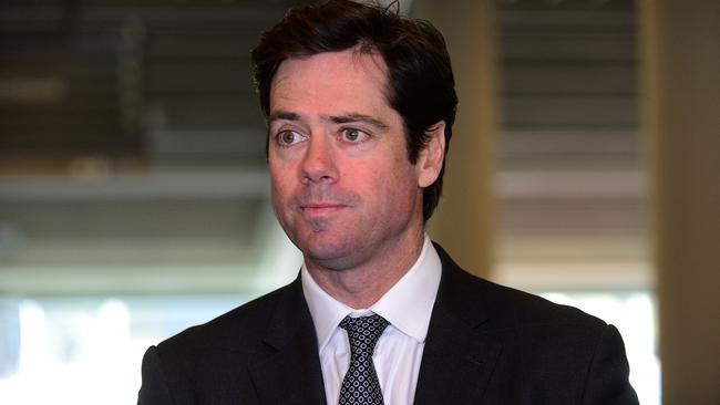 Gillon McLachlan was reportedly worried about finals ticket sales. Picture: Tom Huntley