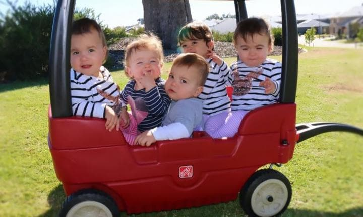 Kim Tucci: 'I survived my first flight with the quintuplets!'