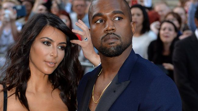 Kim Kardashian and Kanye West attend the GQ Men of the Year awards.