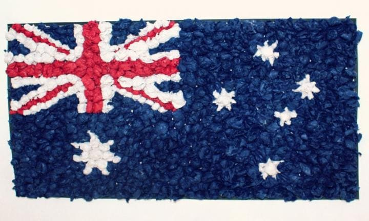 Australian flag collage