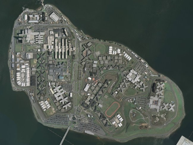 USGS Aerial view of Rikers Island prison complex. Photo: Supplied