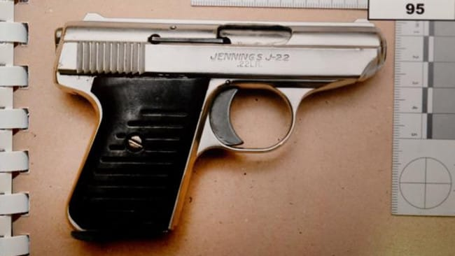 The gun used to murder Lewis McPherson. Picture: Supreme Court files.