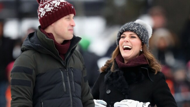 Prince William and Kate Middleton, probably laughing about IKEA in Sweden. Photo: Getty