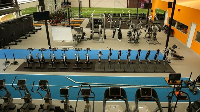 State of the art gym at the GWS Giants' training complex. Picture Gregg Porteous