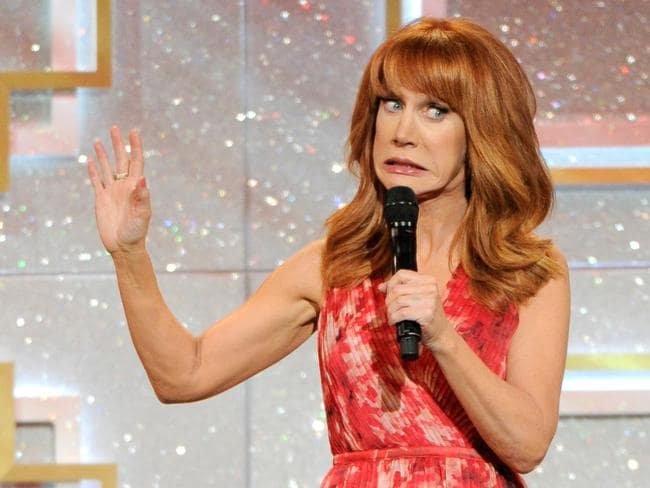 Even host Kathy Griffin looked awkward about her own performance.