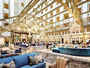 ESCAPE: Trump International Hotel, Washington D.C. lobby. Picture: Supplied