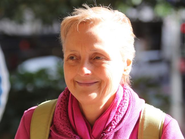 Naturopath Marilyn Bodnar enters the Downing Centre in Sydney. Picture: John Grainger