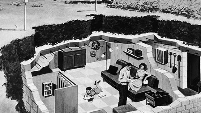 We've been through this before. In the early days of the Cold War, Americans built bunkers as places to hide from the atom bomb and play their Elvis records.
