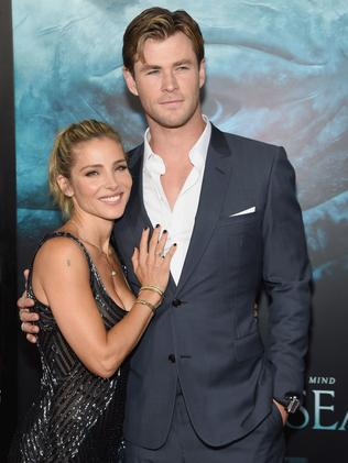 Elsa Pataky and Chris Hemsworth. Picture: Jamie McCarthy