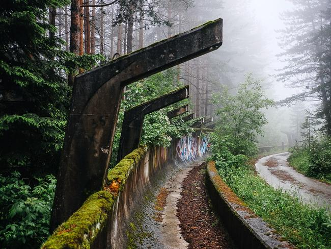 The haunting abandoned Olympic bobsled site. Picture: Nate Robert/yomadic.com