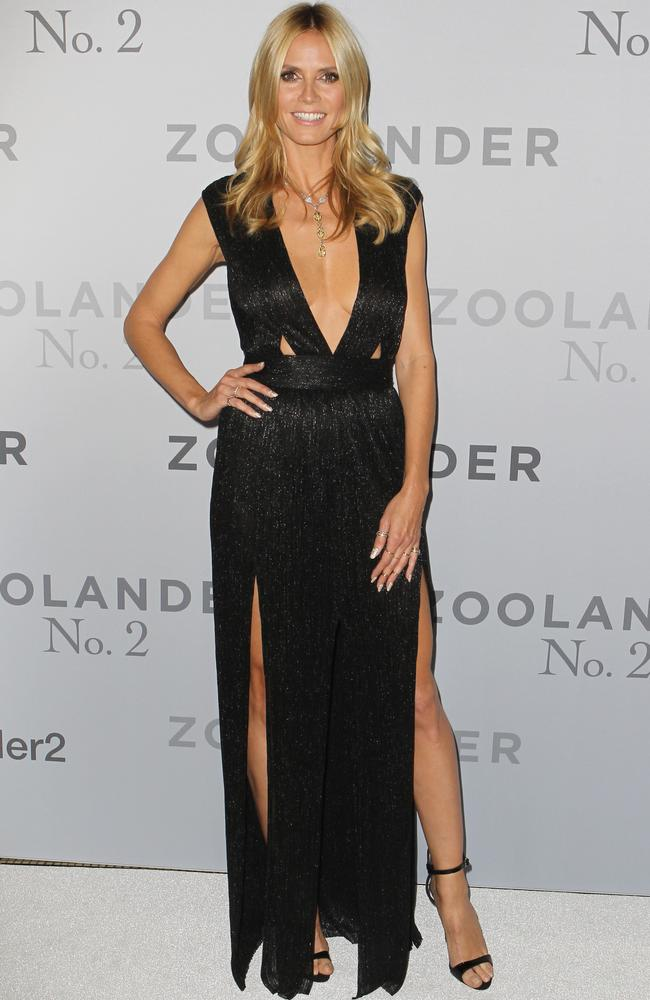 Supermodel and lingerie designer, Heidi Klum, in Sydney at the Zoolander 2 premiere last week. Picture: Christian Gilles